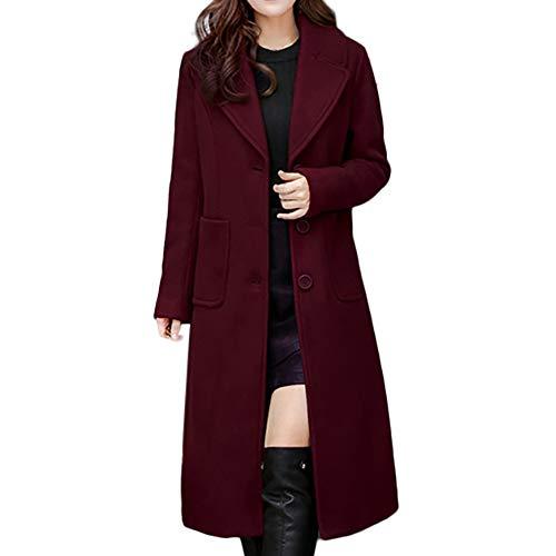 TUDUZ Damen Trenchcoat Mantel Damen Herbst Winter Jacke Steppjacke Winterjacke Winterparka Cardigan Outwear