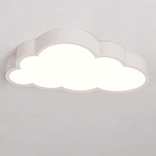 Moderne Led Deckenleuchte Weiß Acryl Decked Shade Cloud Form Anforderungen 24W Wet Light Deck Lights Klapp Schlafzimmer Schlafzimmer Kinderzimmer Esszimmer L50CM * W28CM * H8CM -