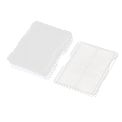5 Stück klare Plastik 2 Slots Slide Halter Spender Box Case