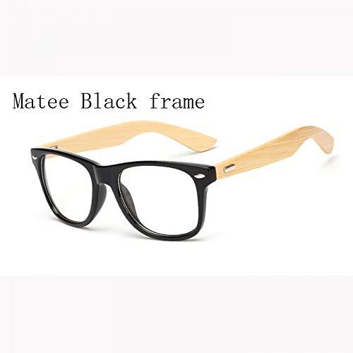 YMTP Retro Objektiv Nerd Holz Brille Frames Designer Männer Frauen Brillen Optische Brillen