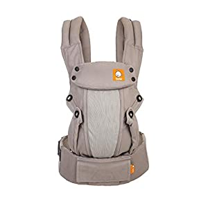 Baby Tula Coast Explore Mesh Baby Carrier 7 - 45 lb, Adjustable Newborn to Toddler Carrier, Multiple Ergonomic Positions Front and Back, Breathable - Coast Overcast, Light Gray with Light Gray Mesh   8