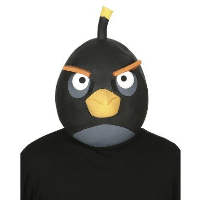 Angry Birds Black Latex Costume - Angry Birds Black Bird Kostüm