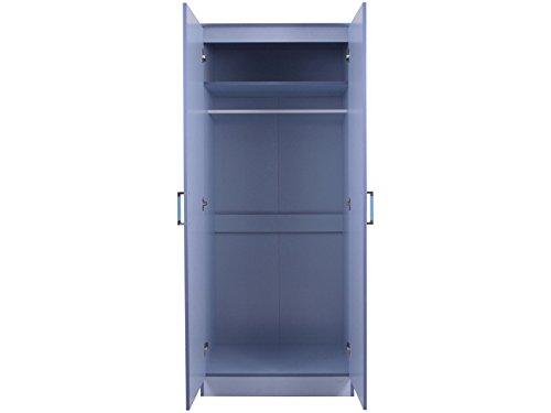 2 ante armadio doppio in due tonalità, colore: blu lucido ...