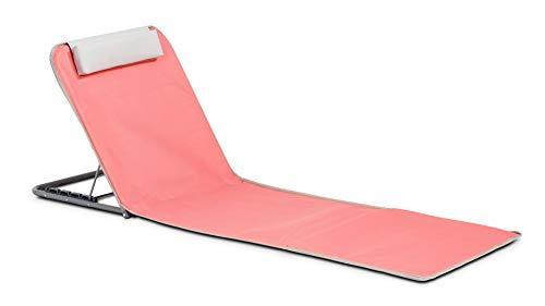 Innov'axe - Clic Clac - Chaise de Plage - Mixte Adulte - Rose (Fuchsia) - 134 x 48 x 40