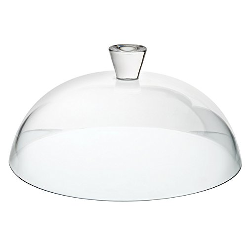 Glass cake dome;Ideal for covering cakes and pastries;Complements white crockery;Perfect for use in catering environments;Hand wash only
