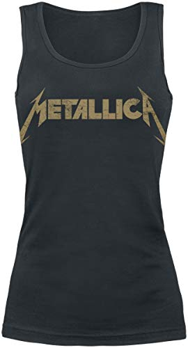 Metallica Hetfield Iron Cross Guitar Top Mujer Negro XXL