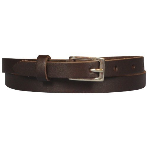 Real Leather Narrow Belt 1/2 Wide Sizes S to 3XL
