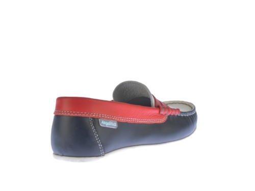 Chaussures pour Enfants Nauticos mod.544. Chaussures Enfant Tous Peau Made in Spain Produit de Qualité. Blanc Cassé - Azul Tommy