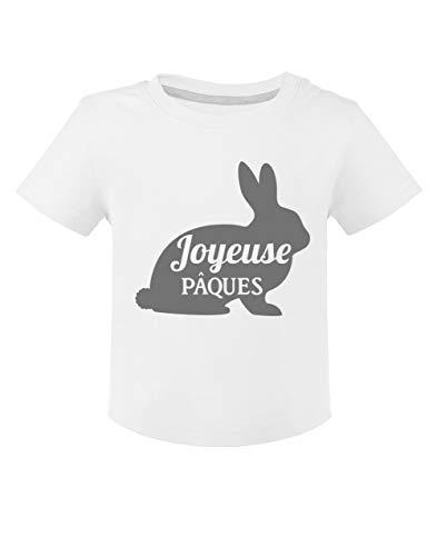 Joyeuse pâques - Lapin de pâque T-Shirt Bébé Unisex 18M Blanc