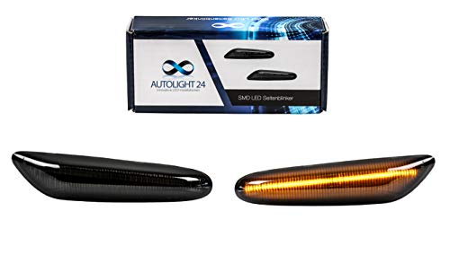 LED Pagine Indicatore di direzione nero fumo Co