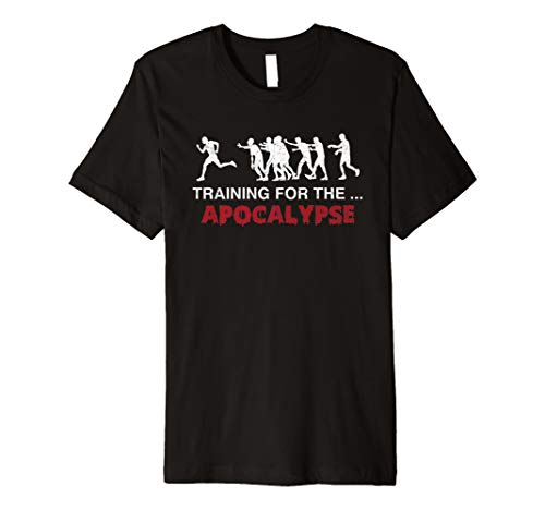 Zombie Training for the Apocalypse Running T -