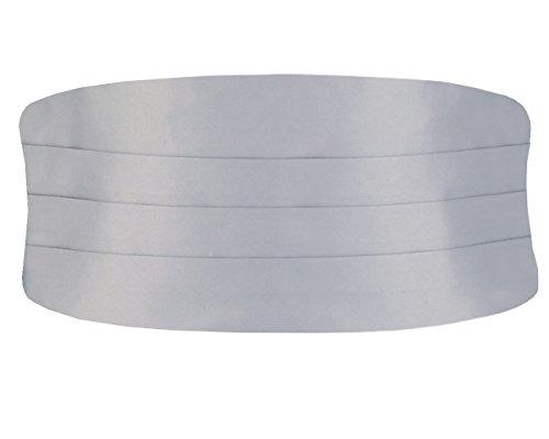 Dobell Herren Klassischer Kummerbund Verstellbar Silber Normal