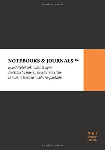 Quaderni Notebooks & Journals, Extra Large, a Righe, Nero, Soft Cover: (17.78 x 25.4 cm)(Taccuino appunti,Taccuino di iaggio)
