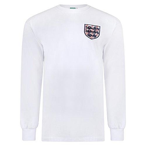 Score Draw Official Retro Men's England 1966 World Cup Finals Ls No6 Retro Football Shirt