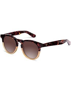 Wolfnoir Hathi Ace Bicome Classic, Gafas de Sol Unisex, Bicolor / Marrón, 45