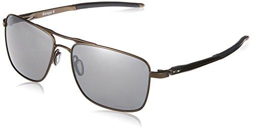 Oakley Herren Gauge 6 Oo6038 603806 Polarizada 57 Mm Sonnenbrille, Schwarz (Pewter), 57