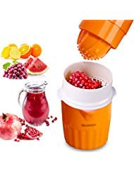 Citrus Orange Juicer Lemon Lime Squeezer Manual Grape Pomegranate Presser with an ABS Strainer and 2 Cup Container