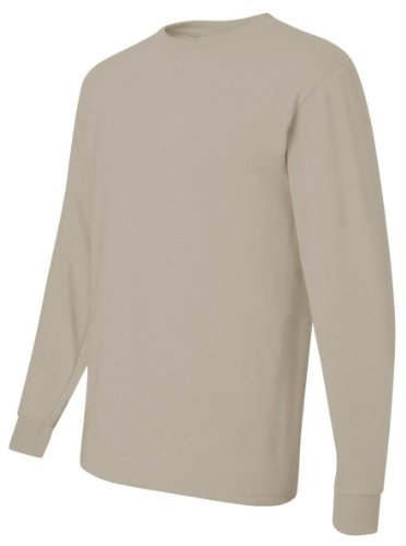 Heavyweight Long Sleeve Tee (Jerzees Heavyweight Blend Long Sleeve Tee L Sandstone by Jerzees)