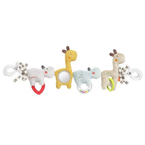 FEHN 059137 Kinderwagenkette Loopy & Lotta / Mobile-Kette mit niedlichen Anhänger-Figuren zum flexiblen Aufhängen an Kinderwagen, Babyschale, Bettchen, Wiege, Spielbogen für Babys und Kleinkinder