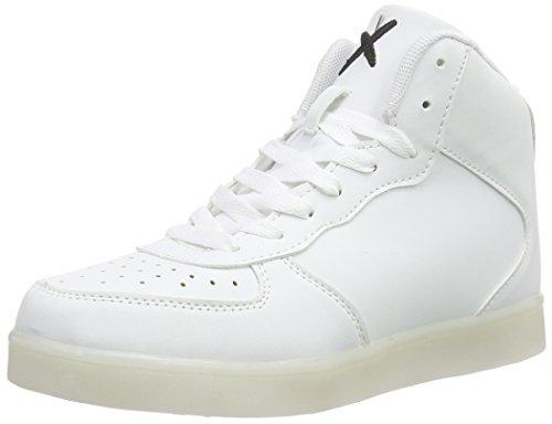 wize & opeLED-Hi - Scarpe da Ginnastica Basse Unisex - Adulto , Bianco (Weiß (white 01)), 44