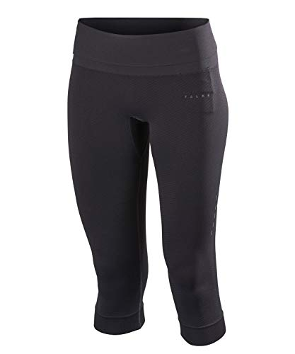 FALKE Damen Running 3/4 Tights Light Women Sporthose Black M