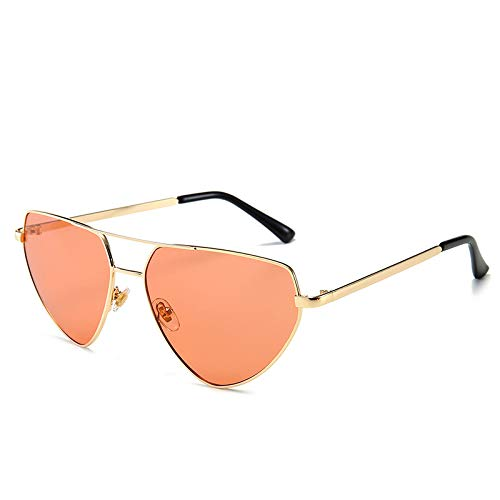 Fashion Sonnenbrille Europa und die USA Männer und Frauen Sonnenbrille Netzwerk rot Catwalk Sonnenbrille hellorange wie abgebildet