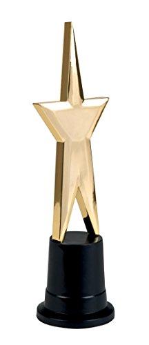 PARTY DISCOUNT NEU Trophäe Star Award, Gold/schwarz, ca. 22 cm
