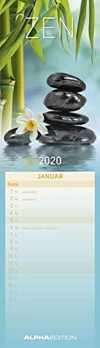 Streifenplaner mini Zen 2020 - Streifenkalender (9,5 x 33) - Wandplaner - Küchenkalender - Harmonie - Achtsamkeit