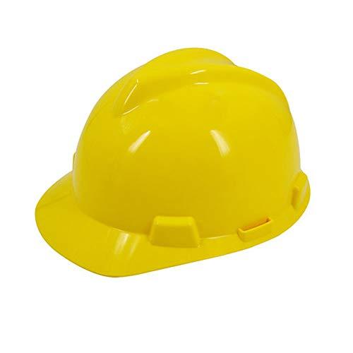 WangQ BAU-Schutzhelm - Baustelle Antikollisions-ABS Hochfeste Hochtemperatur-Schutzhelm (Vier Farben optional) Schutzhelm (Color : Yellow)