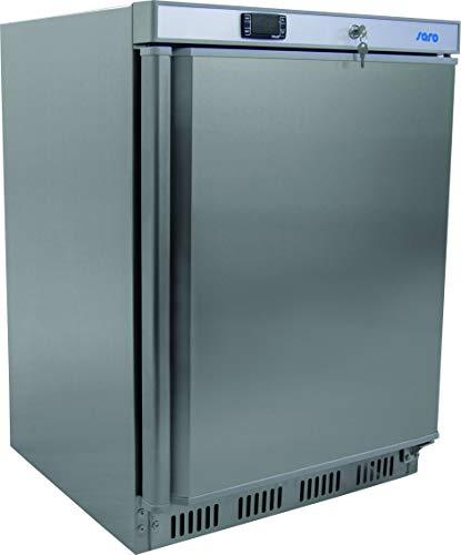 Saro HT 200 s/s Tiefkühlschrank Edelstahl/85 cm/511 kWh/Jahr/129 L Kühlteil/129 L Gefrierteil/Türanschlag wechselbar
