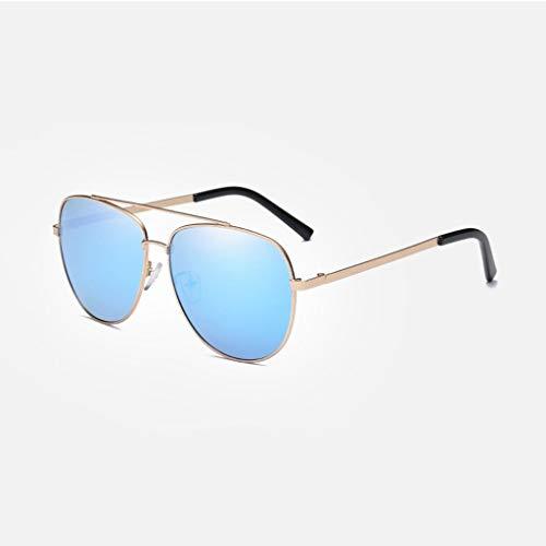 MWPO Polarisierte Sonnenbrille Herren New Classic Outdoor Driving Tour Brille (Farbe: Goldrahmen eisblaue Linse)