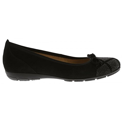 Gabor Shoes Gabor Casual, Ballerine Donna Nero (Schwarz)