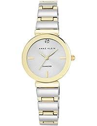 Anne Klein Damen Armbanduhr / Chronograph, Quarzuhr, silberfarbenes Zifferblatt, analoges Display, zweifarbiges Armband, /N2435SVTT
