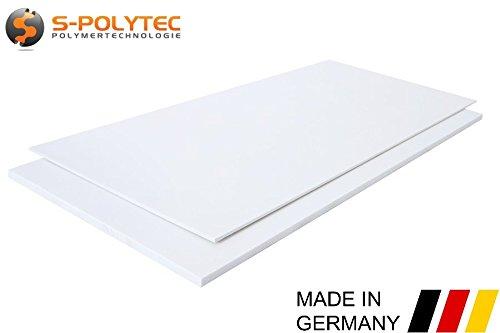 Polystyrol Polystyrolplatte (PS) Weiß 100x49cm, Stärken: 1mm, 2mm, 3mm, 4mm, 5mm TOP QUALITÄT, Modelbau, Schilder, Bastelplatte (1mm)