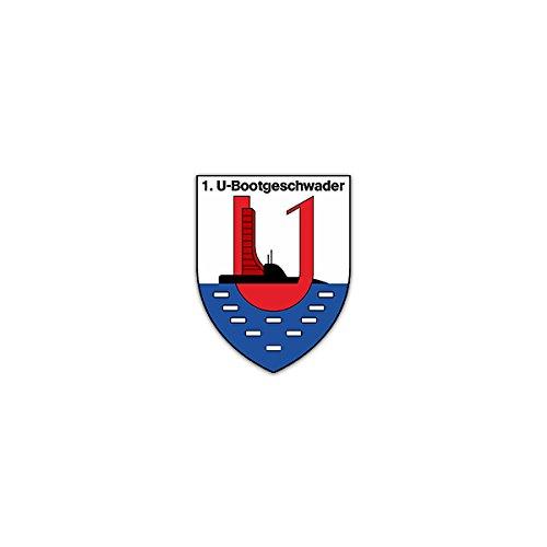 Aufkleber / Sticker -1 Ubootgeschwader Bootsgeschwader Deutsche Marine Einsatzflottille1 Kiel Bundeswehr Marinestützpunkt Eckernförde Schleswig-Holstein Militär Wappen Abzeichen Emblem 5x7cm #A2280 -