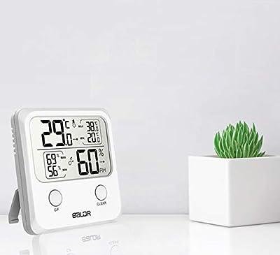 TEKFUN Thermometer Hygrometer Digital Luftfeuchtigkeit Messer mit LCD Schirm für Innen von TEKFUN auf Du und dein Garten