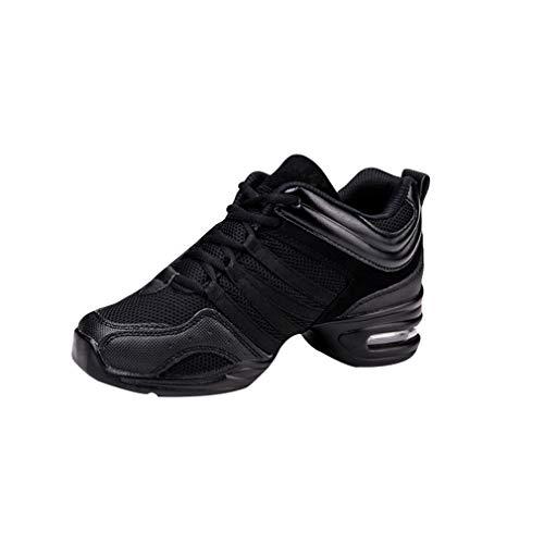 Mujer Dance Fitness Sneakers Entrenadores Transpirables y Ligero Antideslizante Moderno Contemporáneo Jazz Zapatos De Baile Zapatos de Deportivos Zapatillas 9 Colores Tamaño 34-41