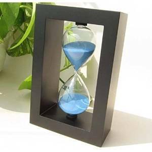 ahmen 5 Minuten Sand Glas, transparente Sand Timer, blaue Farbe Sanduhr, Sand Uhr, dekorative Artikel für Wohnzimmer, Küche 6 Zoll, Ostern Tag / Muttertag / Karfreitag Geschenk (Handgefertigter Weihnachtsschmuck)