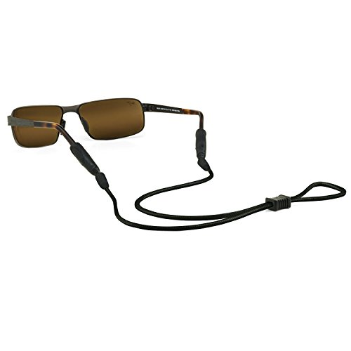 Croakies Terra System Adjustable Eyewear Retainer XL End Black for Glasses Sport