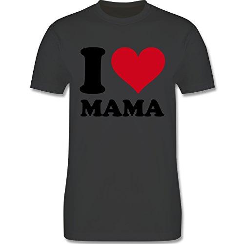 I love - I Love Mama - Herren Premium T-Shirt Dunkelgrau