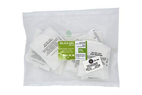 Silica Gel Trockenmittel, 10 Päckchen à 20 g aus Vließsstoff