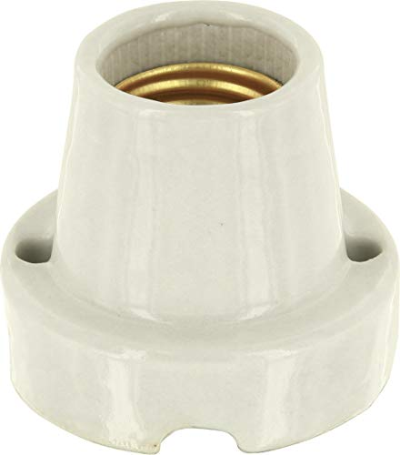 Aufbauleuchte Keramik E27 - Basic weiß - max. 1000W - z.B. für Terrarien -