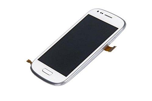 Blanc Ecran LCD Vitre Tactile Assemblé Complet sur Châssis pour Samsung Galaxy S3 Mini i8190