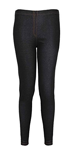 Neu Damen Ponte Denim Jeans Leggings Damen Übergröße Elastischer Bund Stretch Fit Hosen Jeggings - Marineblau, Damen, 50-52 (Hose Ponte)
