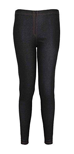 Neu Damen Ponte Denim Jeans Leggings Damen Übergröße Elastischer Bund Stretch Fit Hosen Jeggings - Marineblau, Damen, 50-52 (Ponte Hose)