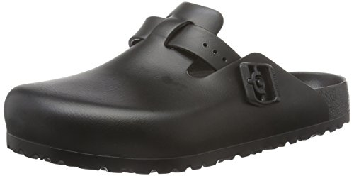 Birkenstock Boston Eva, Zoccoli Unisex - Adulto, Nero (Black), 44 EU