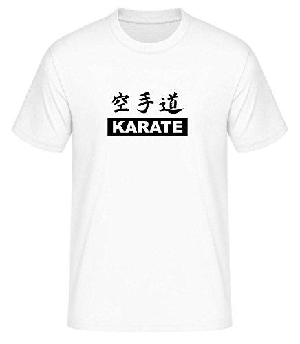 schweres Qualitäts T-Shirt mit Motiv Karate Do, Farbe weiss, Gr. M