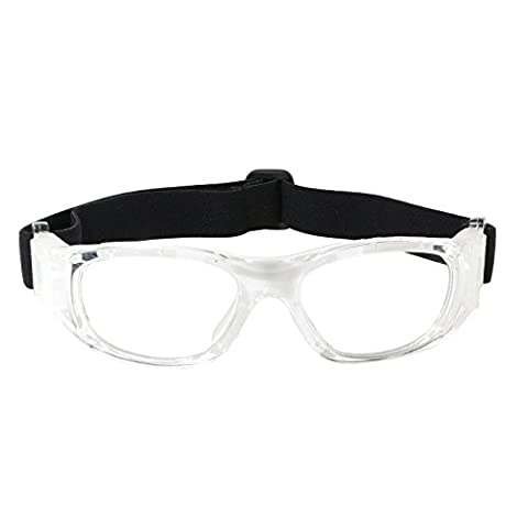 Kids Sports Goggles Eye Protection Basketball Glasses for Children with Adjustable Strap Strong Silicone Hook for Basketball Football Volleyball Hockey Rugby (white)