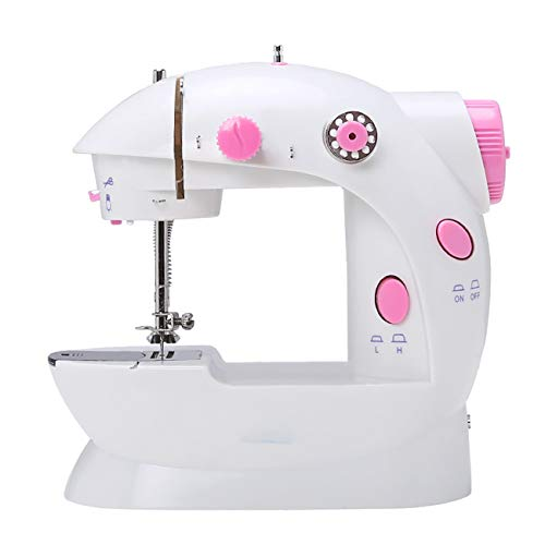 W.W Haushaltsnähmaschine, tragbare Stoffvorhänge Cordless Craft Sewing Machine für Home Travel mit extra Spule, Nadel und Einfädler