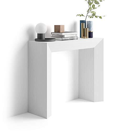 Mobili fiver giuditta consolle ingresso, olmo, bianco, 90x30x75 cm
